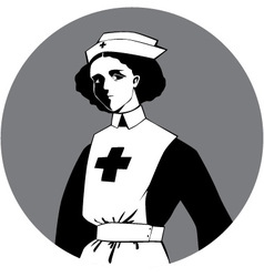 World war one nurse clipart vector