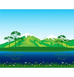 Beautiful landscape by summer vector