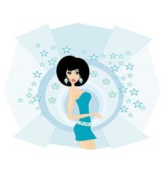 Sexy disco girl card vector