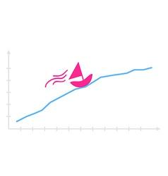 Hand drawn funny graph vector
