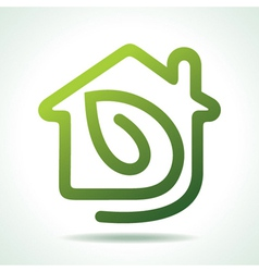 Home icon with leaf vector