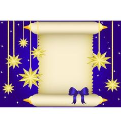 Scroll and stars vector
