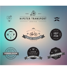 Set of hipster modern labels icons vector