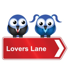 Lovers lane vector