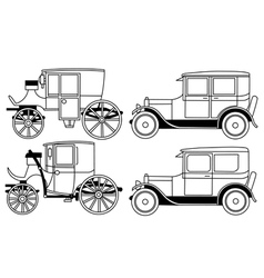Set of the retro cars vector