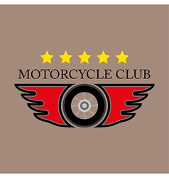 Motorcycle club logo on white background vector