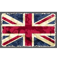 British grunge flag vector