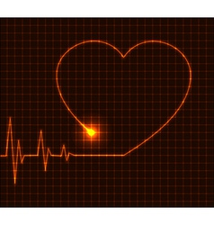 Abstract heart cardiogram - vector