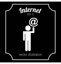 Internet icon vector