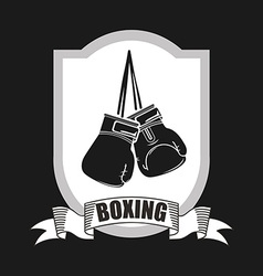 Boxing emblem vector