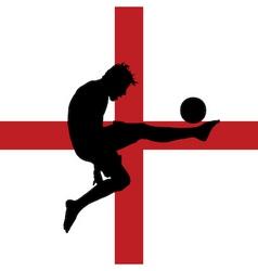 Football player with english flag vector