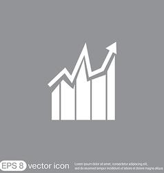 Chart diagram figure business icon vector