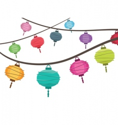 Lantern decorations vector