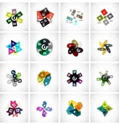 Collection of templates for business  technology vector