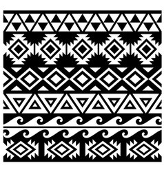 Seamless tribal pattern design vector