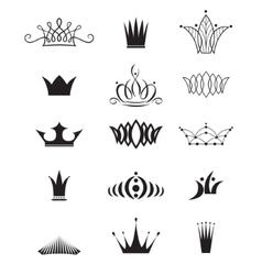 Modern crowns vector
