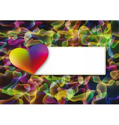 Abstract valentines day postcard vector