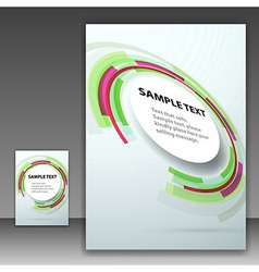 Template folder with round design element vector