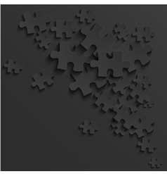 Modern black puzzle background vector
