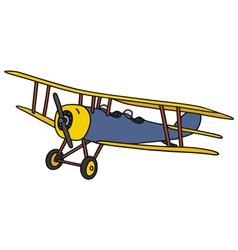 Vintage biplane vector