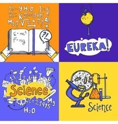 Science design concept vector