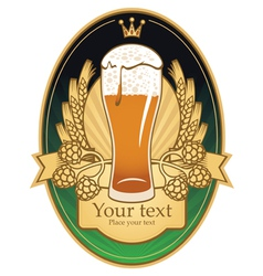 Pint label vector