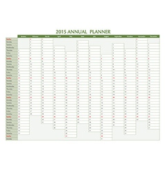 Annual planner 2015 english vector