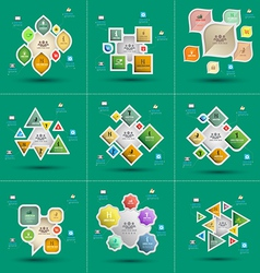 Infographics set template for diagram graph presen vector