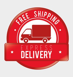 Delivery design over gray background vector