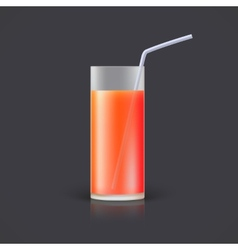 Glass of juice vector