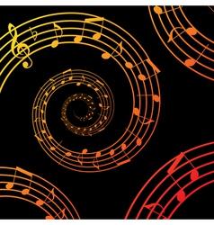 Music spiral background vector