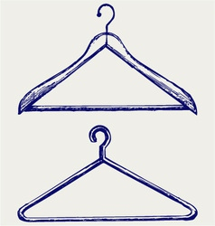 Clothes hangers vector