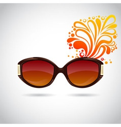 Realistic trendy woman sunglasses vector