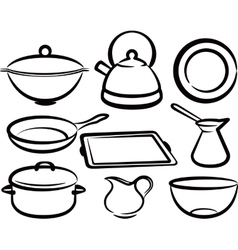 Set of kitchen utensil vector