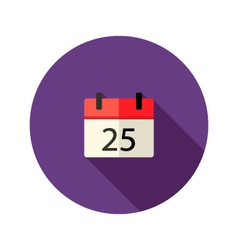 Christmas calendar flat icon vector