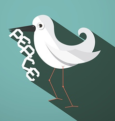 Peace dove retro flat design vector