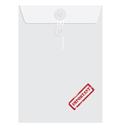 White long envelope with stamp important vector