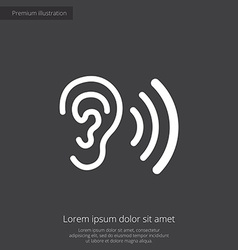 Ear premium icon vector