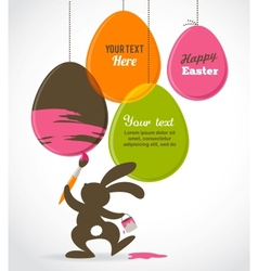 Easter card with bunny vector