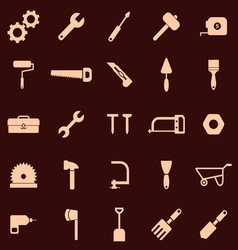 Tool icons on red background vector