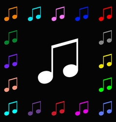 Musical note music ringtone icon sign lots of vector