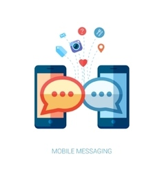Mobile messaging im and social chat or sms flat vector