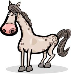 Horse farm animal cartoon vector