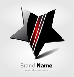 Brand black star logo vector