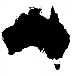 Australia detailed map vector
