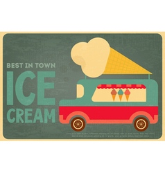 Ice cream bus vector