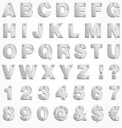 Metal letters vector