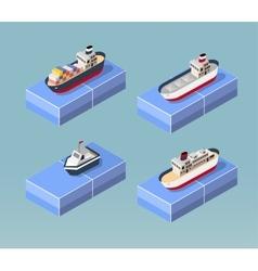 Cargo ships vector