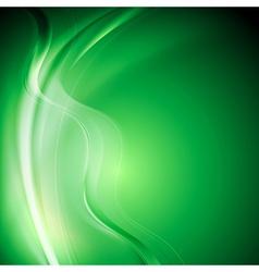 Elegant green wavy background vector