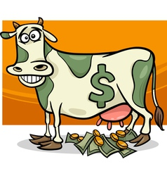 Cash cow saying cartoon vector
